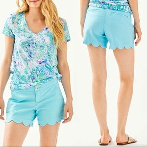 NWOT - Lilly Pulitzer Buttercup Scalloped Shorts